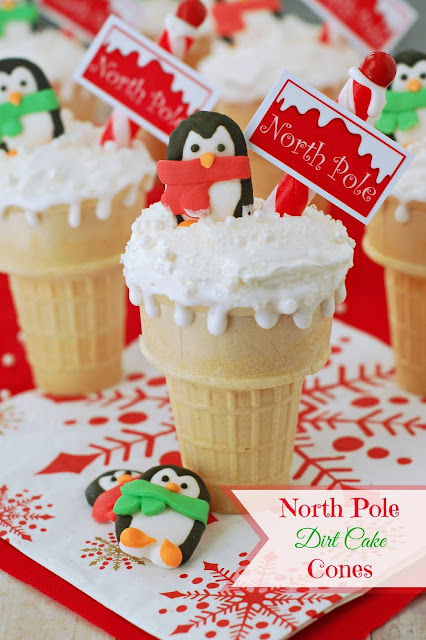 North Pole Dirt Cake Cones by The Sweet Chick