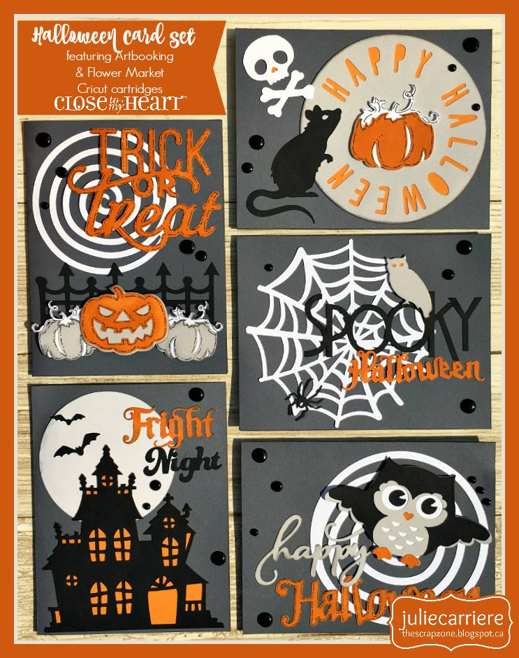 Halloween Cardmaking assembly guide
