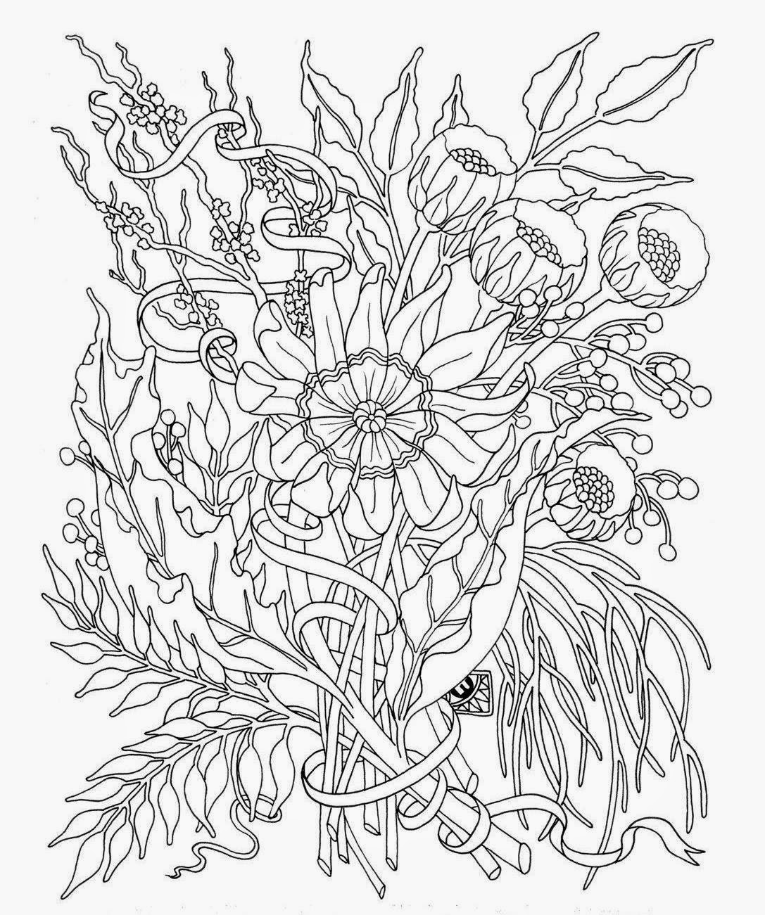 Free Coloring Pages Of Floral Pictures For