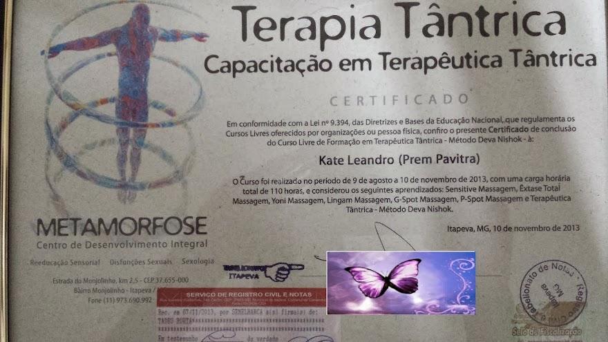 Kate Prem Pavitra capacitada no metodo Deva Nishok de Terapia tantrica