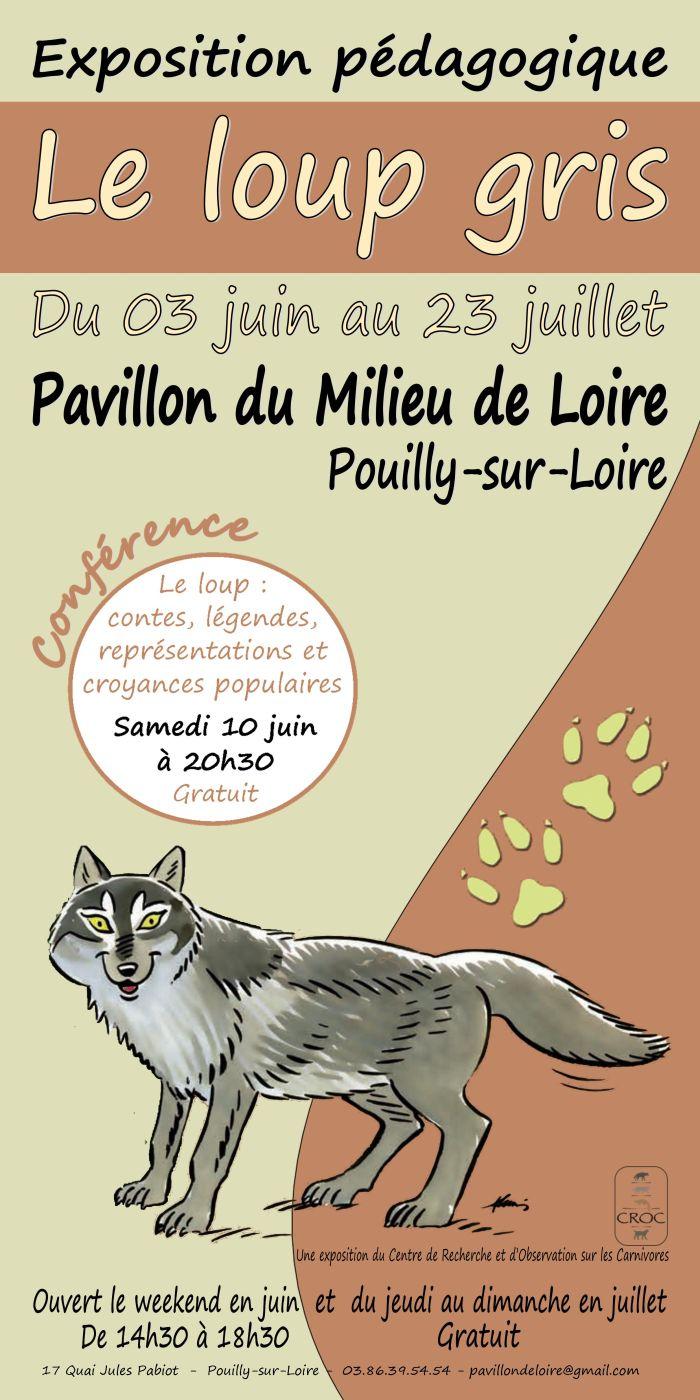 """Exposition pédagogique """"Le Loup gris"""" du 3 juin au 23 juillet"""