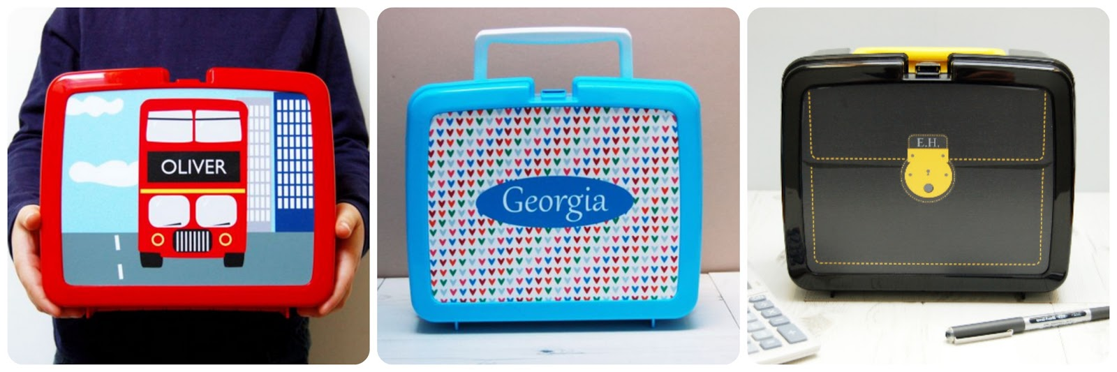 Spotty n Stripy Personalised Lunchboxes