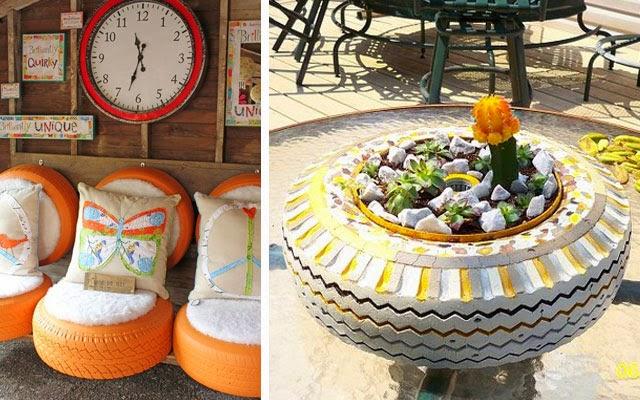 Ma poubelle est un jardin je suis toujours heureux d for Decoracion de jardin con neumaticos