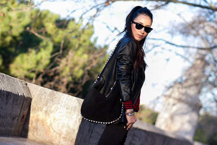 Red & Black Stripes Top Look Rock Style Blogger Fashion Valencia Trend