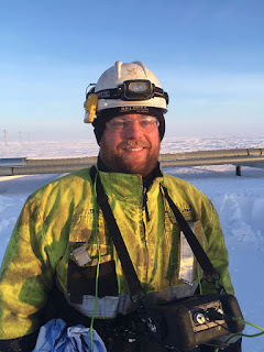 Blaise Bucsko, a UAA NDT student, now works for Kakivik Asset Management, on the North Slope. (Photo courtesy of Blaise Bucsko)