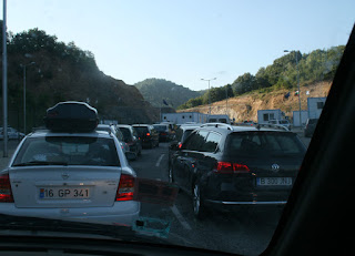 Queuing at the Greek border