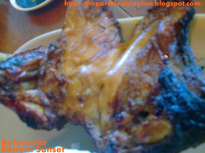 Mang Inasal chicken is charred