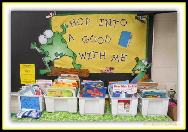 """Hop into a Good Book with Me"" Bulletin Board via RainbowsWithinReach"