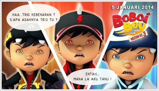 Boboiboy Musim Ketiga : BoBoiBoy Kuasa Tiga