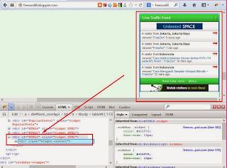 cara menampilkan widget di halaman depan blog