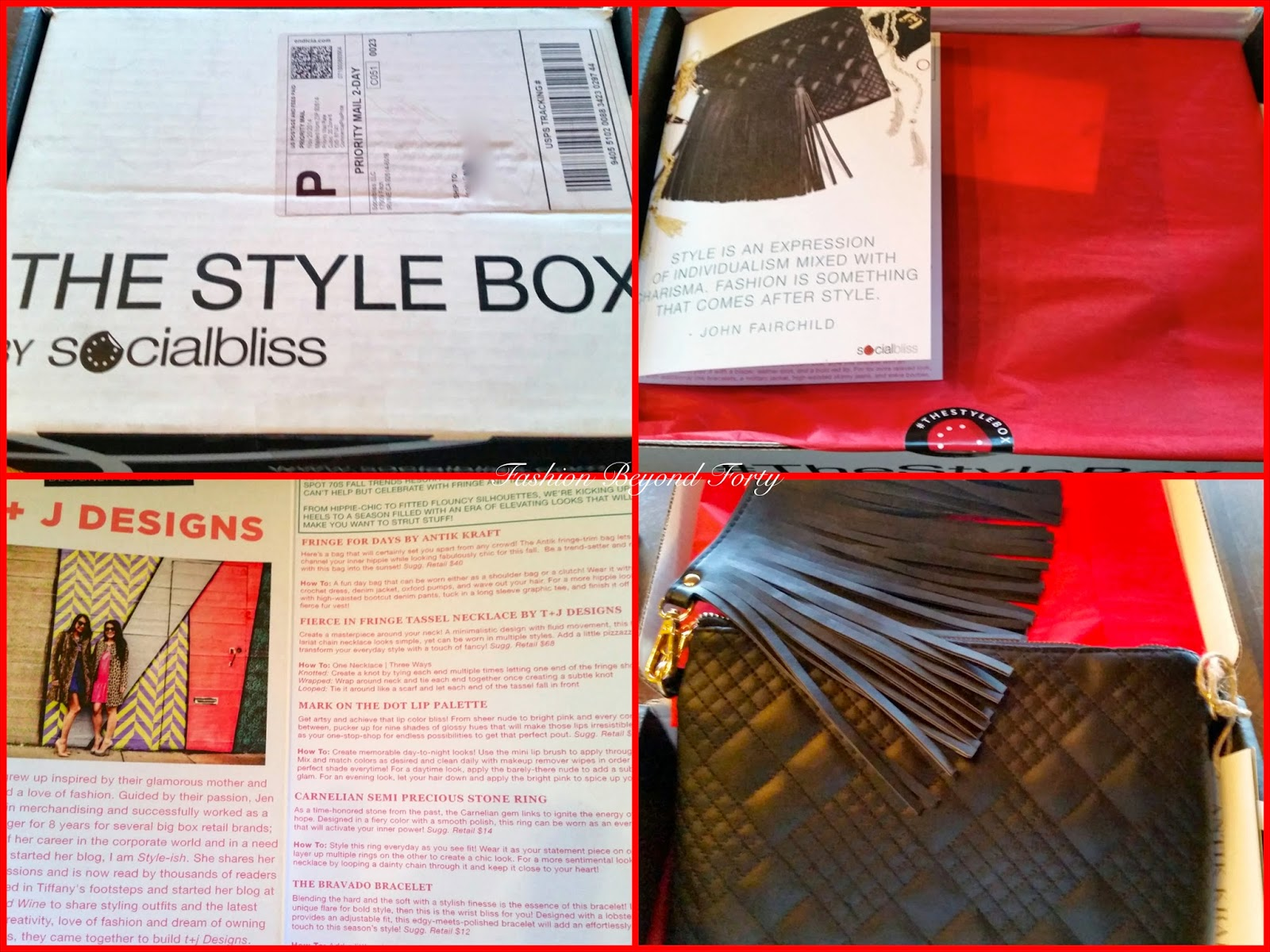 Last Items from November's Socialbliss Stylebox Fashion Beyond Forty