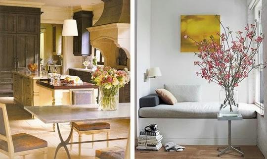 decoração flores ambiente casa