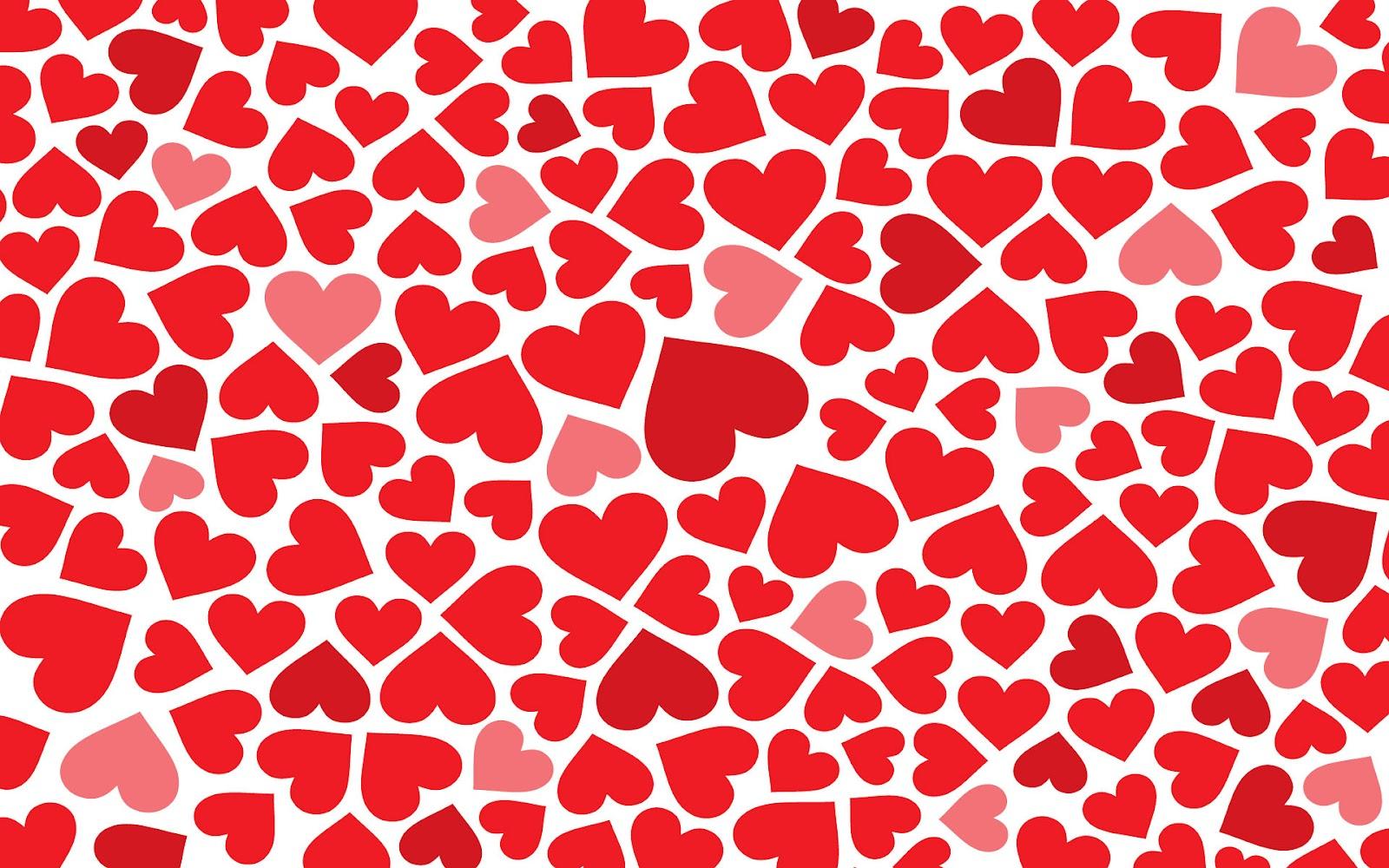 Achtergrond Met Kleine Rode Liefdes Hartjes   HD Liefde Wallpaper