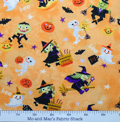 Witchy fabrics for pre halloween crafting for Monster themed fabric