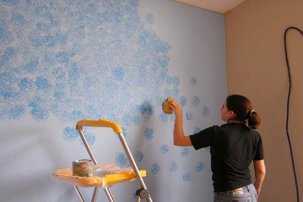 Sponge painting tips for How to sponge paint a wall without glaze