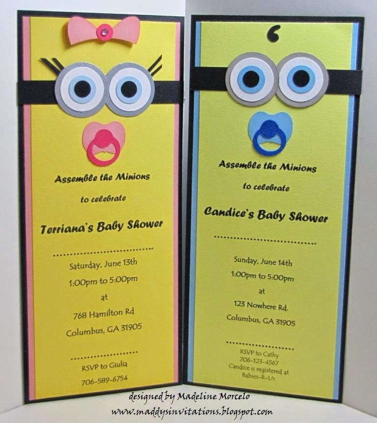gallery images and information minion baby shower invites