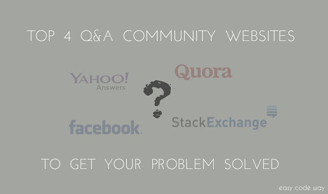 Top 4 Question-Answer Community Sites