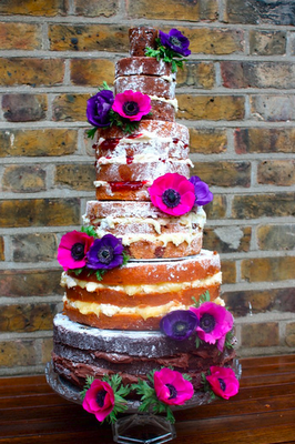 naked cake by Cakes by Sugar