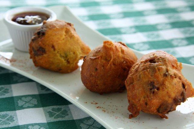 Fritos de caracola en Antigua