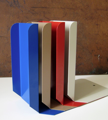 steel bookends in four colors