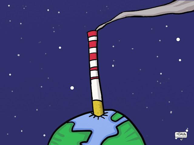 fumo fabbrica tumori Gava Satira Vignette