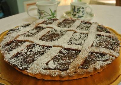 crostata con farina di castagne e marmellata di mele cotogne