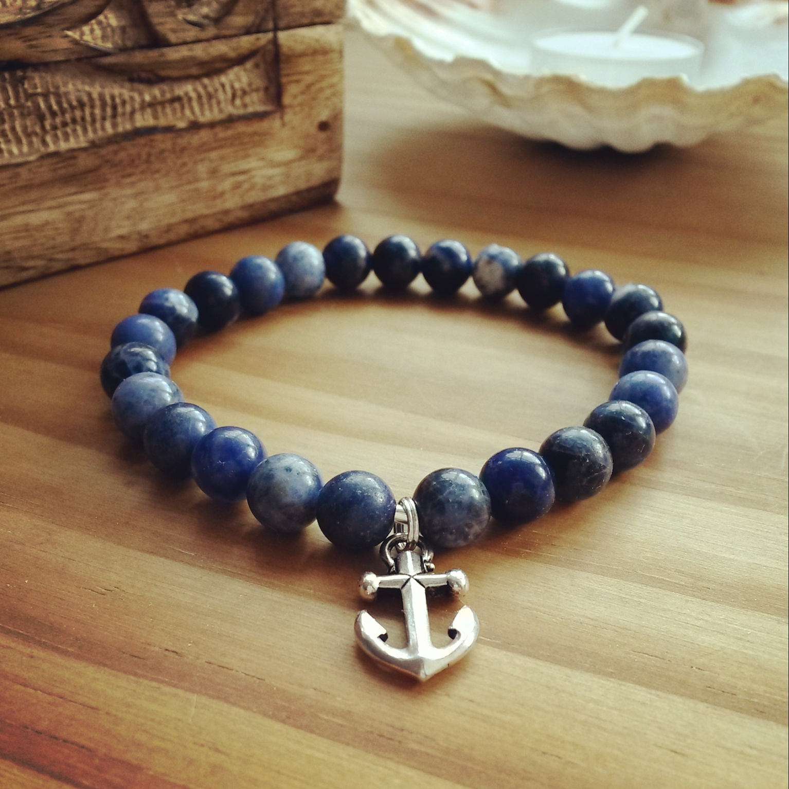 New Men's Anchor Bracelet  This Is A Nautical Inspired Men's Anchor  Bracelet The Anchor Is Silver Plated With Light Antique Finish