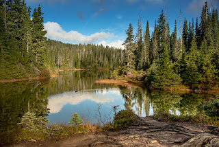 View of Arnica Lake, Hiking to Mount Phillips Vancouver Island