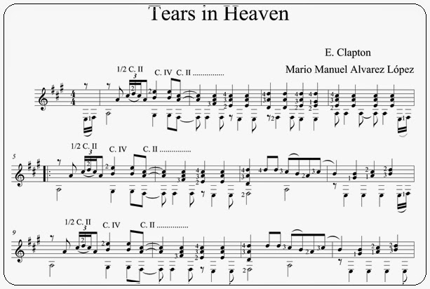 tears in heaven melody pdf