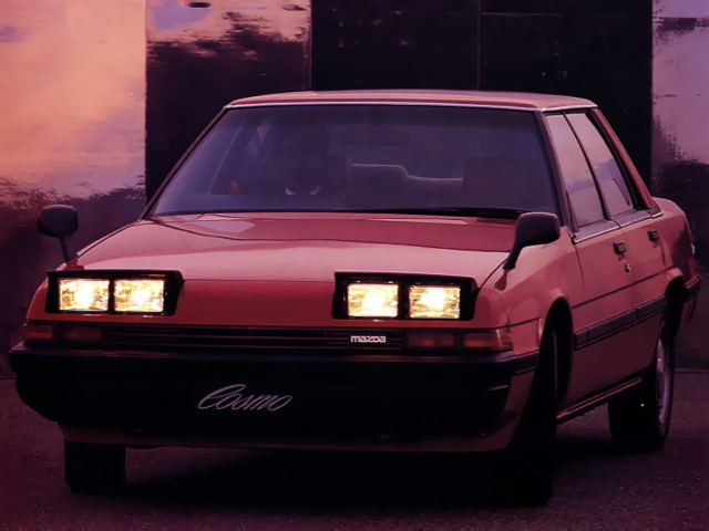 Mazda Cosmo HB, sedan, klasyk, stare auto, zdjęcia, podnoszone reflektory