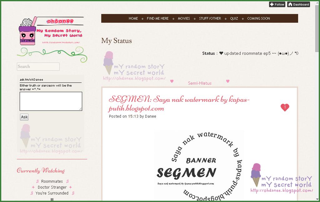 Lucky blogger no 5 - Segmen: Saya nak watermark by kapas-putih.blogspot.com