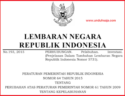 PP No 64 Tahun 2015
