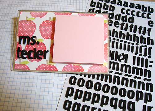 Teacher Post It Note Holder-designed by Lori Tecler/Inking Aloud