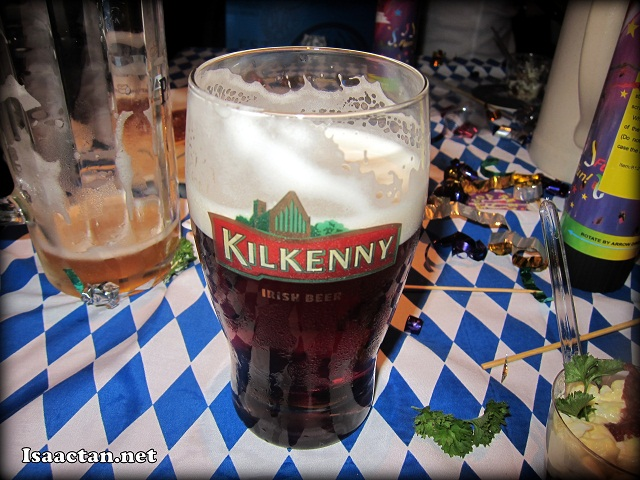 We had free flow of Kilkenny that night too!