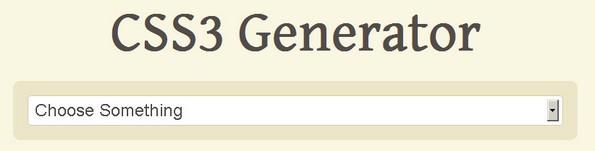 CSS3 Generator utility