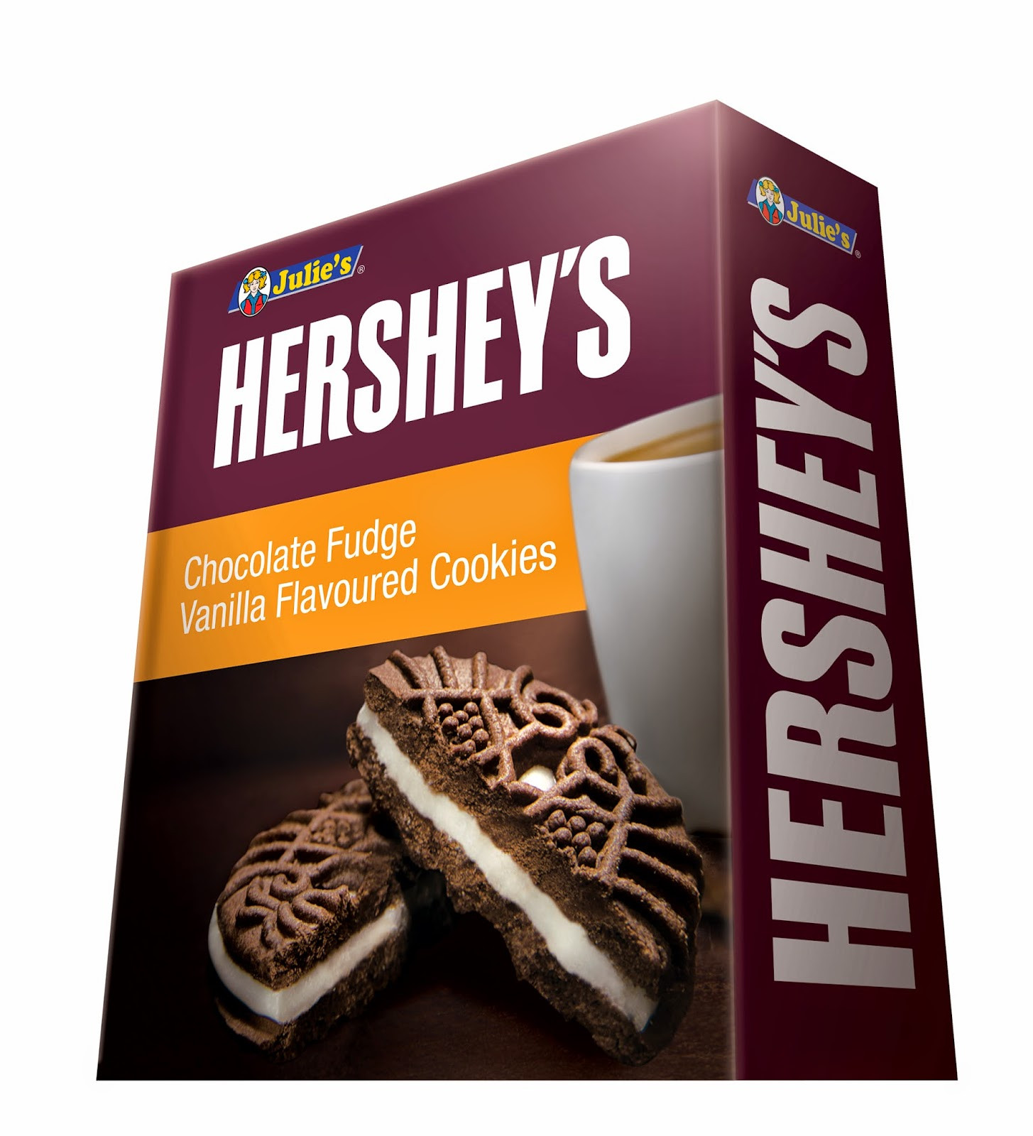 Julie's Hershey's Chocolate Fudge Vanilla Flavoured Cookies