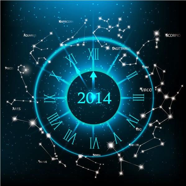 Cuenta atrás 2014 astral - Vector