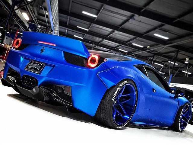 Justin Bieber S Ferrari 458 Italia Gets Full Liberty Walk