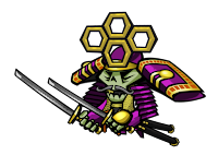 Purple Shogun concept art, from 17-Bit