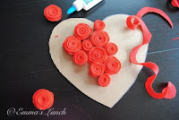 valentine's day heart, felt flower decoration