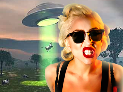UFO Drops Off Mutilated Cow in Lady Gaga's Backyard