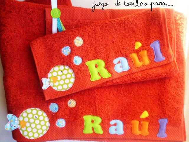 Pezpuntes unas toallas para ra l - Toallas infantiles personalizadas ...
