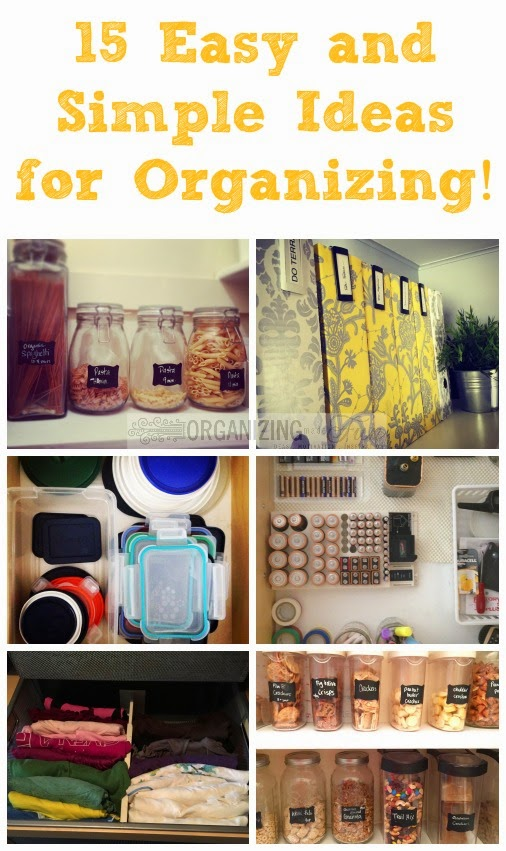 15 Easy and Simple Ideas for Organizing :: OrganizingMadeFun.com