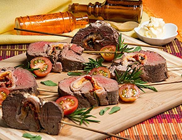 Rollitos De Carne Con Tocineta