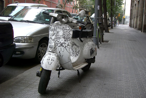 Sharpie Vespa Bike Art car Central