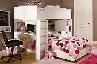 lit pour filles avec espace de stockage