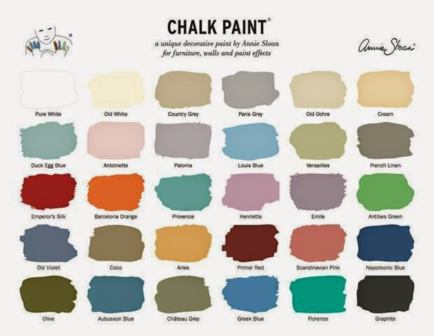 gama de colores chalk paint annie sloan