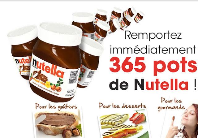 365 pots de Nutella à gagner