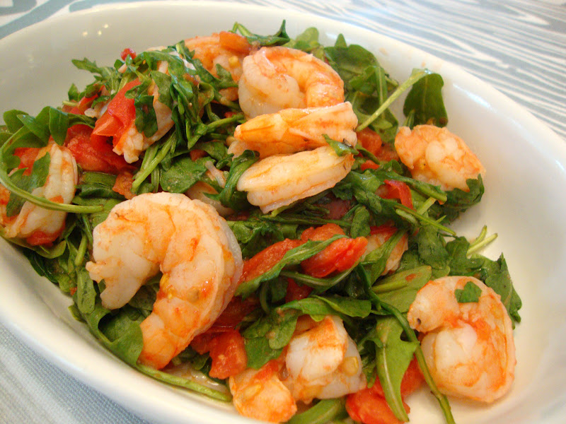 ... Food Light and made this Sauteed Shrimp with Arugula and Tomatoes