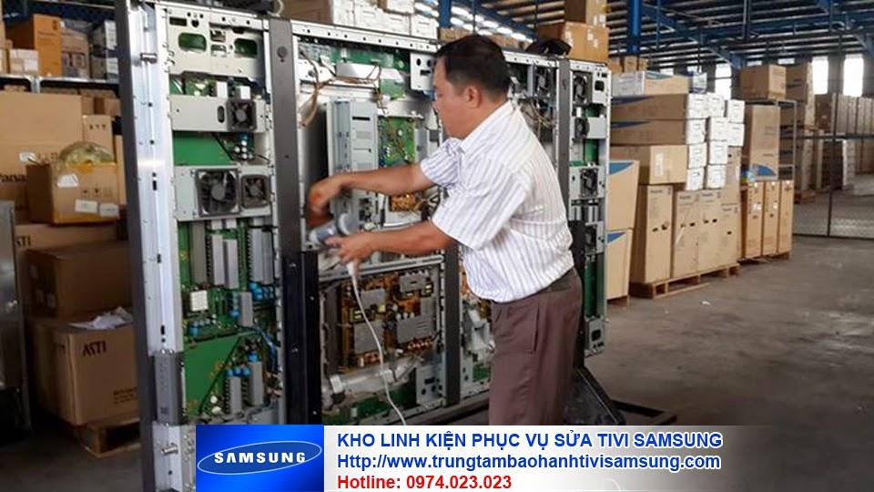 Kho linh kiện chính hãng phục vụ cho việc sửa chữa tivi samsung 12